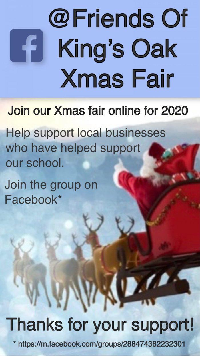 Friends of King's Oak Primary online Xmas Fair